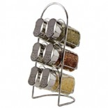 6 pcs glass storage shakers with holder(KH-6103)