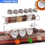 10 pcs glass spice sets with chromeplated rack(KH-9104)